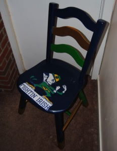 Decoupage Notre Dame Fighting Irish College Sports Chair