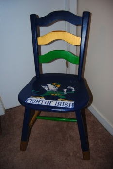 Notre Dame College Football Chair