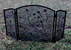 Old Black Fireplace screen