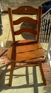 Thrift Store Ladder Back Maple Chair