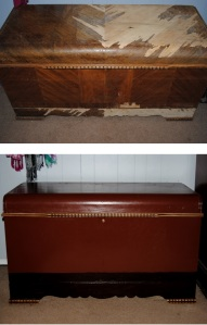 1934 Lane Hope Chest Before and After