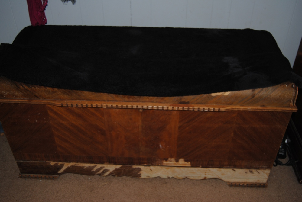 On The Upcycle Revival: Vintage 1934 Lane Waterfall Art Deco Hope Chest (6/6)