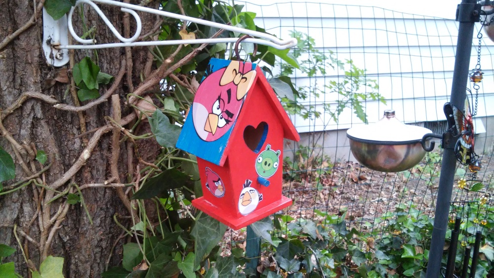 Where is Summer?  The Birds Are Angry:  Decoupage Kids Craft Bird House (5/5)